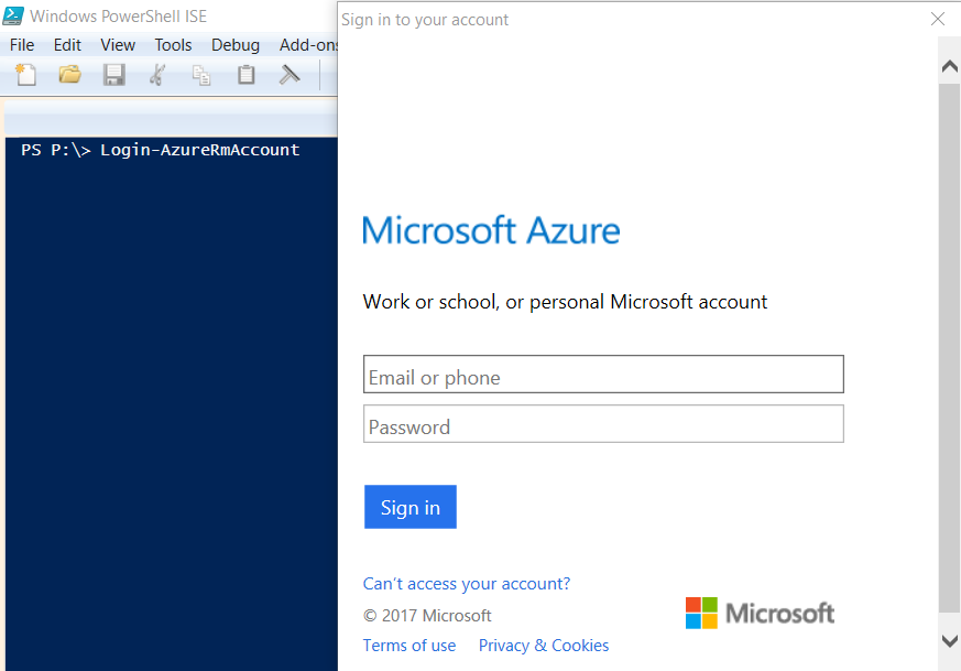 Login to Azure