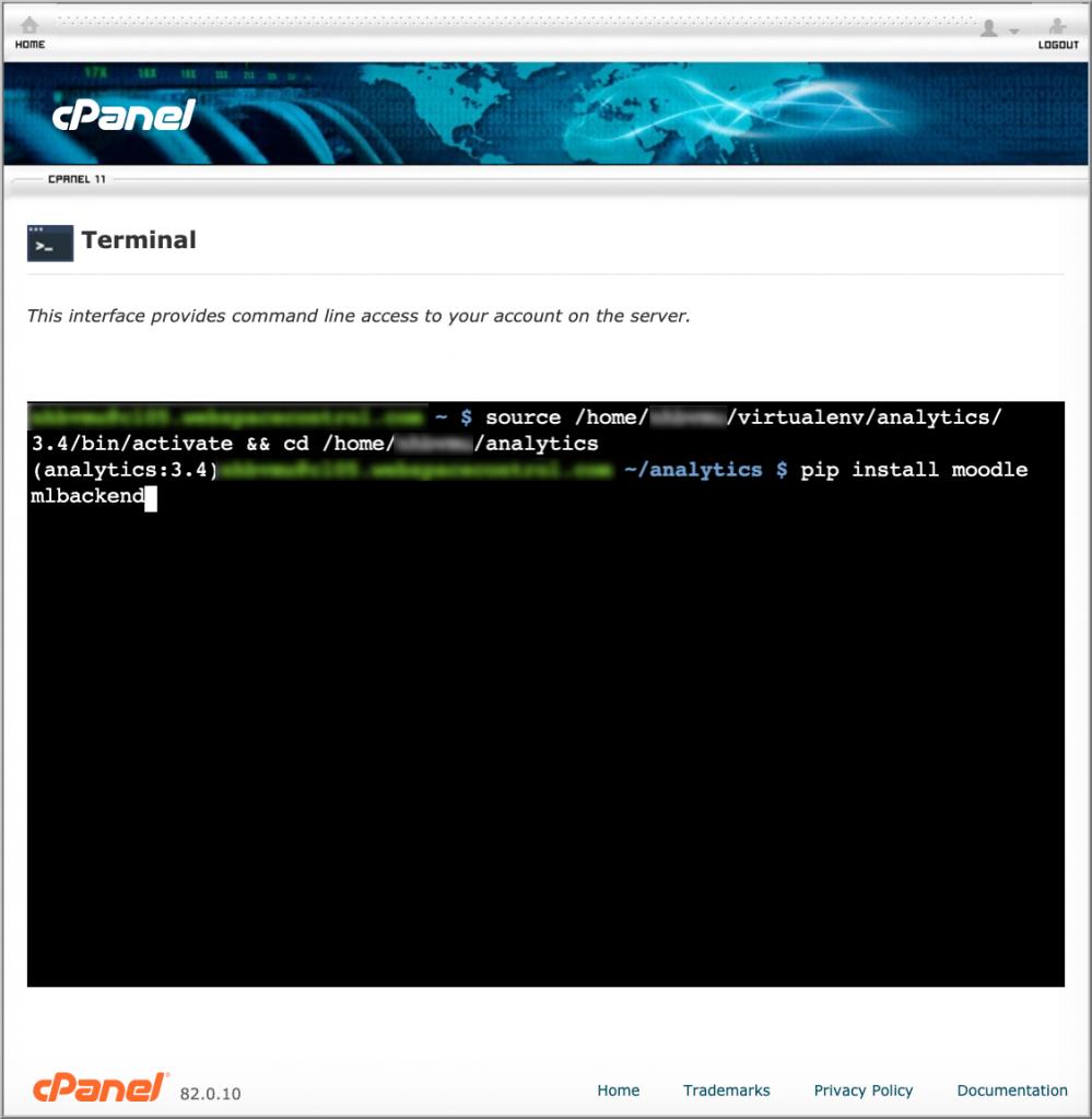 Installing moodlemlbackend Python package