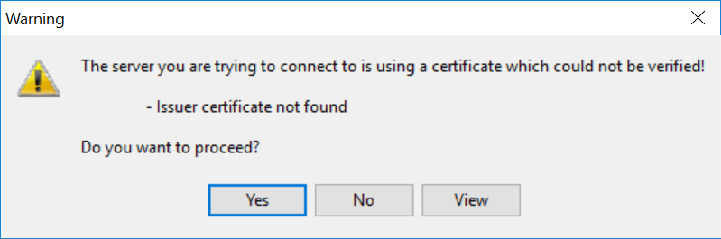 LDAP certificate not found.