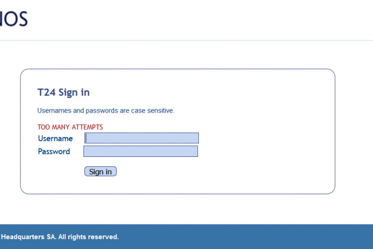 Too many attemtps error on login screen